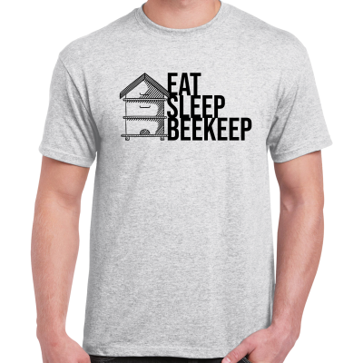 AshGrey-EatSleep.pngGrey Eat Sleep Beekeep T-Shirt