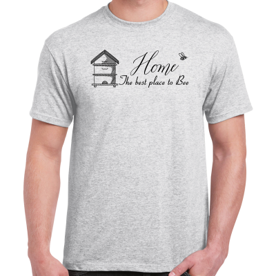 AshGrey-Home.pngAsh Grey Home Is The Best Place To Bee T-Shirt